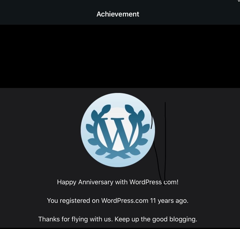 You registered on WordPress.com 11 years ago